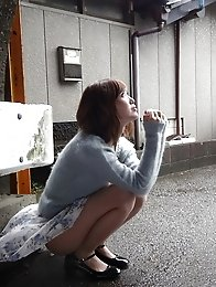 Sweet and beautiful Japanese av idol Rina Kato wants to have sex in a rainy day