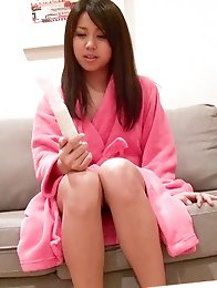 Satsukis cotton panties quickly became wet and frustrated.