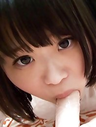 As she wrapped her 18 year old Japanese lips around the fat rubber shaft, Minoris eyes looked dirty and satisfied. Could we tame the hentai creature?