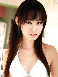 Rina Akiyama Asian exposes her leering curves in white lingerie