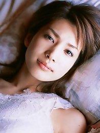 Captivating gravure idol babe Junko Yaginuma seduces in her black lingerie