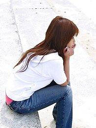 Horny and lovely Japanese av idol Miyu Sugiura wants to have sex outdoors