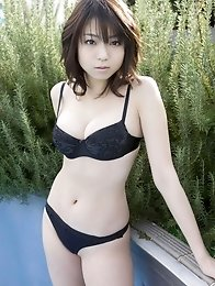 Gorgeous asian angel shows off her delicious milky white skin