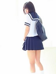 Minami looks like a pretty soldier manga girl waiting to join Sailor Moon.