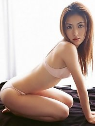 Sultry asian babe is to die for in her sexy red lingerie
