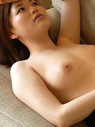 Sexy japanese stewardess Yui Matsuno in pantyhose stripped naked