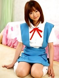 Beautiful japqan idol Saki Ninomiya in maid uniform