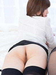 Sexy schoolgirls in pantyhose Sara Yurikawa and Yui Kasugano posing together