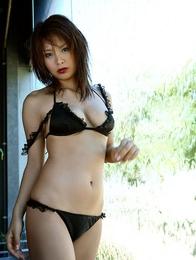 Yuika Hotta lingerie babe in her silk bra and panties