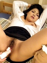 Naughty teacher Ryo Sasaki pleased