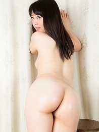 Oily booty beauty Yuka Shirayuki gets her feet and legs fucked in a lengthy scene