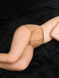 Pantyhose-clad hottie Sana Iori gets her meaty thighs fucked sideways here