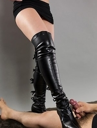 Kanna Otowa wearing sexy boots and being extremely nasty on camera