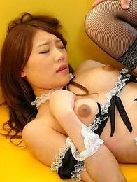 Hot waitress Aoi Yuki gets banged