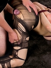 Yuu Kazuki looks hot AF as she gets this dude to thigh-fuck her in a bondage scene