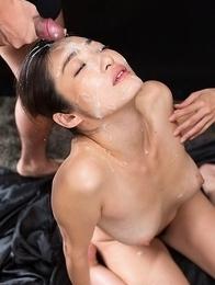 Ryu Enami Sticky Bukkake Facial
