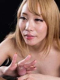 Airi Mashiro Gives A Sloppy Seconds Handjob