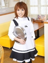 Yui Shimizu is a busty housemaid