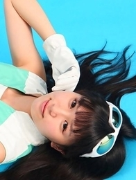 Tsukasa Arai is sexy steward in short skirt and long boots