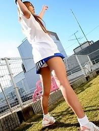 Remika Uehara poses for the camera