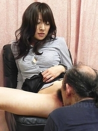 Miku Sachi rides man mouth with hairy pussy
