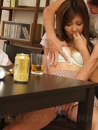 Hitomi Okubo has hairy slit licked and fucked