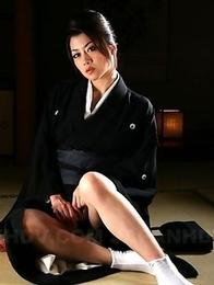 Sayuri Shiraishi exposing her tits.