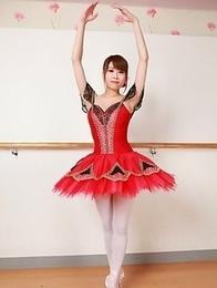Ballerina Ririka Suzuki shows off