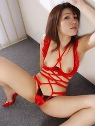 Remi Kawamura spreads her legs