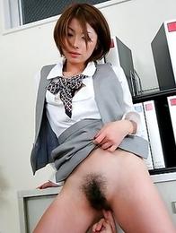 Freaky Japanese office doll Tsubaki