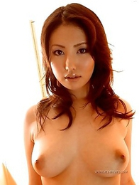 Nude photoshoot starring a kinky Asian Takako Kitahara