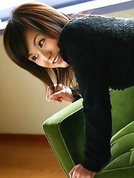 Hikaru Hayami strips her small and tight skirt