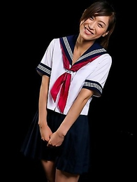 Schoolgirl Reika Yamada is caged and released by her captor only when he feels like fucking her face.