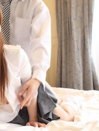 Beautiful Japanese model Yuki Morina exposes her big boobs and enjoys doggy fucking