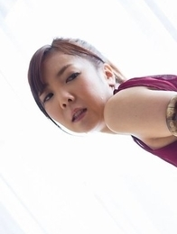 Dress-wearing stunner Mio Yoshida enjoying a passionate round of hot-dogging